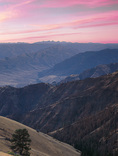 LF 234.  Dawn from Buckhorn Overlook with the Seven Devils on the horizon after a recent fire.  Hells Canyon National Recreation Area, OR, USA