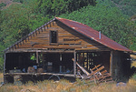 SF 266.  A 19th century barn and shed fades into ruin in rural Sonoma County, CA