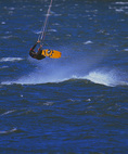 SF 2171.  Kiteboarder with air.  Columbia River Gorge National Scenic Area, Hood River, OR