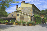 D3X 28.  Facing the restaurant and a portion of the villa of a large tourist resort.  Alberi, Tuscany, Italy
