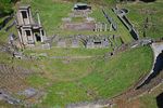 D3X 42. A full view of the Roman Theater at Volterra, Tuscany, Italy