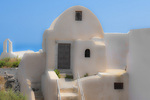D3X 106 PI.  Monk's quarters in a complex of a Greek Orthodox Monastery in the village of Castelli, Santorini, Greece overlooking the Ionian Sea