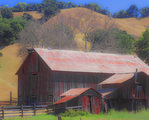 MF 504 PI.  Old barn complex in rural San Luis Obispo County, CA