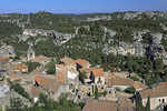 D800e 19.  The inhabited village of Les Baux, beneath the medieval fortifications.  The Alpilles Mountains, Provence, France.