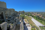 D800e 22.  A wide angle view of most of the fortifications and the original village at Les Baux.  The Alipilles Mountains, Provence, France.