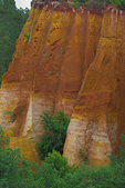 "D800e 34.  The ochre cliffs of Roussillon, the ""red village.""  The Vacluse, Provence, France."