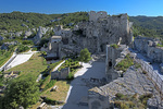 D800e 48.  The west face of the fortifications at Les Baux at early morning.  Provence, France.