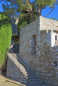D800e 86.  Staircase leading to a residence in the medieval village of Murs.  Vaucluse, Provence, France, Europe.