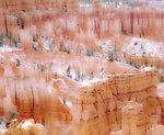 MF 543 PI.  A very light dusting of snow at early morning at Bryce Canyon National Park, UT
