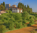 D3X 195.  A small community of farmers and their dwellings near San Gimignano.  Chianti, Tuscany, Italy