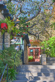 D3X 140. A cluster of restaurants and businesses in a garden like setting. Carmel, CA