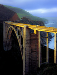 LF 381 PI.  The Bixby Bridge at sunrise.  Big Sur, California.