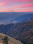 LF 234 PI.  Dawn from Buckhorn Overlook with the Seven Devils on the Horizon after a recent fire.  Hells Canyon National Recreation Area, OR