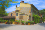 D3X 28 PI.  Facing the restaurant and a portion of the villa of a large tourist villa.  Alberi, Tuscany, Italy