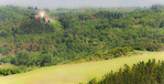 D3X 219 PI.  A spectacular villa looms on the horizon deep within the remote Tuscan countryside.  Tuscany, Italy.