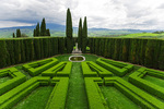 D800e 253.  The central view of La Foce Gardens.  Chianciano, Val d'Orcia, Tuscany, Italy.