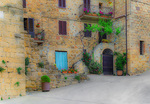 D800e 303.  An apartment complex in the medieval village of Monticchielo.  Val d'Orcia, Tuscany, Italy.