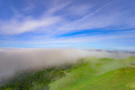 D800e 352.  A receding fog falls away from Bolinas Ridge to the Pacific at mid morning.  Mt. Tamalpais State Park, Marin County, CA