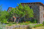 D810 10.  A traditional stone house in the alpine commune of Le Pont.  Haute-de-Alpes, Provence, France