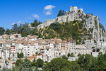 D810 15.  The Citadel, a Roman fortress in Sisteron, adtop the city.  Haute-de-Alpes, Provence, France