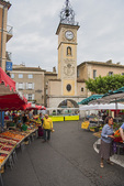 D810 30.  The Saturday Market in old town Sisteron.  Provence, Haute-de-Alpes, France