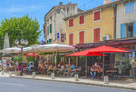 D800e 361. A cafe scene at full summer in St. Remy de Provence, France