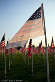 Flag of Honor (TM) and American Flags at a presentation in honor of the ten year anniversary of 9/11