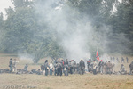 Reenactment of Civil War battle.