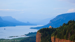 Vista House and the Columbia Gorge from Chanticleer Point at sunset