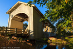 The Gilkey Bridge, covered bridge in early Autumn.