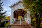 Ritner Creek Bridge, covered bridge in early Autumn. Digital Composite, HDR