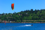 Kite boarding at Hood River.