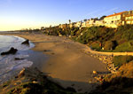 Near sunset at Corona Del mar State Beach, Corona Del Mar, California.