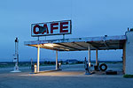 Roy's Cafe, motel and gas station along Route 66, Amboy, California.
