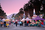 Village Fest, the open air Street Fair closes down the main street (Palm Canyon Drive), Palm Springs, California.