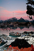 Valdez boat harbor at sunset, Valdez,  Prince William Sound,  Alaska.