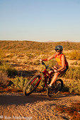 Mountain Biking on the Competitive Trails in McDowell Mountain Regional Park, near Fountain Hills, east of Phoenix, Arizona. (model released)