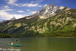 Kayaking on Jenny Lake, Grand Teton National Park, Wyoming. (MR)