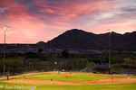 Baseball fields Fountain Hills, outside of Phoenix, Arizona.