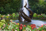 Sturgeon Fountain, the Butchart Gardens, Victoria, Vancouver Island, British Columbia, Canada.