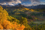 Autumn colors and the Sneffels Range, San Juan Mountains, Colorado.