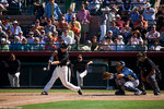 The San Francisco Giants vs the Milwaukee Brewers during spring training, Scottsdale, Arizona.