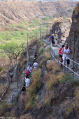 Trail to Diamond Head Crater, Waikiki, Honolulu, Hawaii.