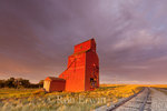 Old grain elevator in Wood Mountain, Saskatchewan - a part of the prairie landscape that is fast disappearing