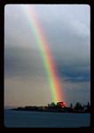 Rainbow on Lake Superior Coast Guard Station.
