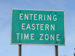 Eastern Time Zone Sign.