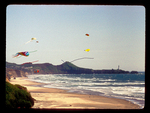 Colorful Kites over and Oregon Beach.