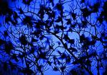 Mixed Flock Of Grackles In November Moonlight