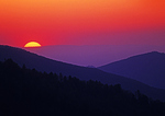 Sunset At Morton Overlook Great Smoky Mountains National Park