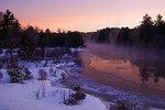 Pre-Dawn Colors On Winter Stream